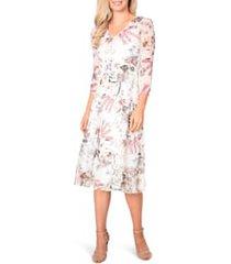 women's komarov floral chiffon midi dress