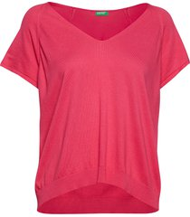 v neck sweater h/s t-shirts & tops knitted t-shirts/tops rosa united colors of benetton