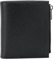 emporio armani textured finish wallet - black