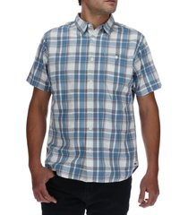 camisa hombre foundation large plaid azul cat