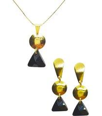 conjunto sofia dorado con swarovski joyas montero
