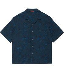 'solana' floral jacquard cotton cuban shirt