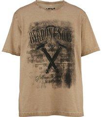 t-shirt men plus beige