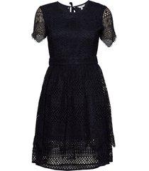 oc peche dress ss kort klänning svart tommy hilfiger
