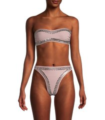 norma kamali women's studded strapless bra - rose - size xs