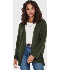 cardigan  jacqueline de yong verde - calce regular