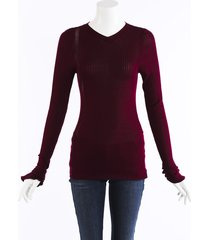 victoria beckham ribbed cotton sweater