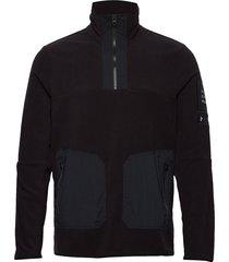 m tech fleece tn sweat-shirt tröja svart peak performance
