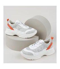 tênis feminino bebece sneaker chunky branco