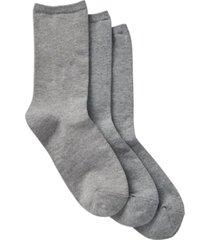 women's comfort crew socks, pack of 3