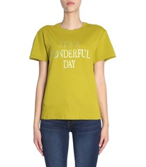 alberta ferretti t-shirt with its a wonderful day print