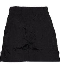 crinkled tech shorts flowy shorts/casual shorts svart ganni