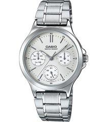 ltp-v300d-7au reloj casio moderno , multicalendario,  100% original garantizados