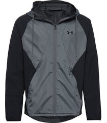 stretch-woven hooded jacket dun jack zwart under armour