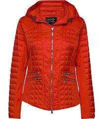 jacket wadding doorgestikte jas rood betty barclay