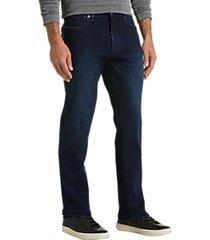 joe joseph abboud city dark blue wash slim fit jeans