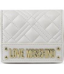 love moschino bi-fold wallet with logo ss 2021