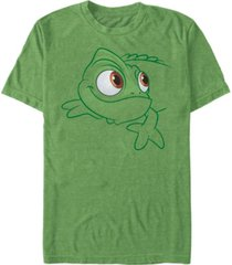 disney men's tangled pascal big face costume short sleeve t-shirt short sleeve t-shirt