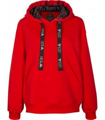 bluza red hoodie