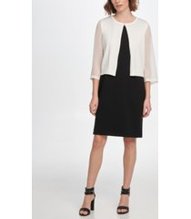 dkny georgette sleeve cardigan