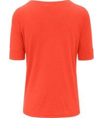 shirt met boothals van efixelle oranje