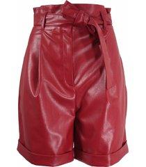pleat detailing waist shorts