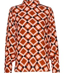 grama blouse blouse lange mouwen oranje second female