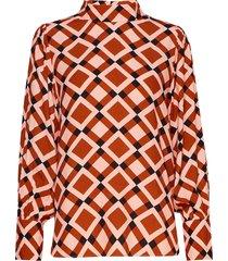 grama blouse blouse lange mouwen oranje second female
