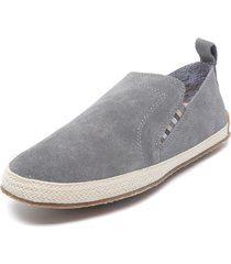 alpargata cuero party gris hush puppies