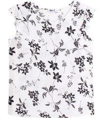 blusa m/c con estampado floral