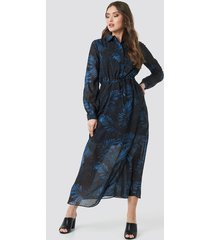 trendyol colored button detailed dress - black