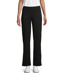 calvin klein women's powerstretch straight-leg pants - black - size xs