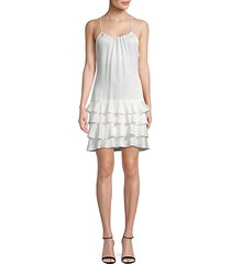 everleigh tiered crepe dress