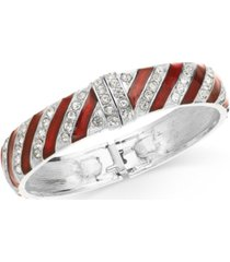 holiday lane pave candy bangle bracelet, created for macy's
