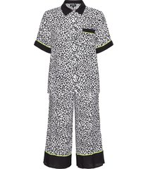 dkny wild side top & capri pj set pyjamas svart dkny homewear