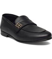 th essentials leather loafer loafers låga skor svart tommy hilfiger
