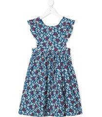 bonpoint all-over print dress - blue
