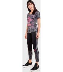 legging ngx long neon gris - calce ajustado