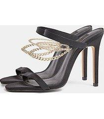 sydni black chain sandals - black
