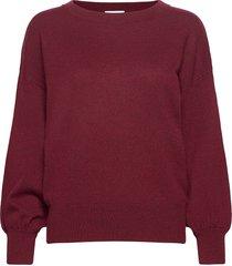 balloon sleeve sweater gebreide trui rood davida cashmere