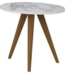 mesa lateral 400 branco/carrara be mobiliã¡rio - branco - dafiti