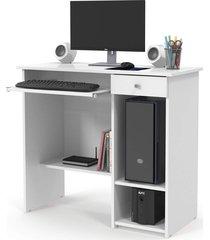 mesa computador marina new branco patrimar móveis - tricae