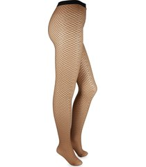 wolford women's diamond snake tights - gobi - size m