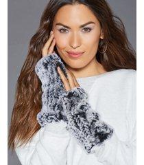 the fur vault fingerless rabbit fur gloves