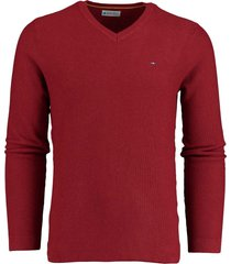 bos bright blue neil v-neck pullover fancy k 19305ne09bo/677 wine red