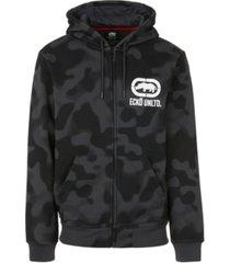 ecko unltd men's 2 color camo zip up hoodie