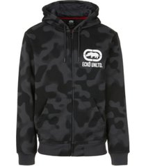 ecko unltd men's 2 color camo zip up hoodie