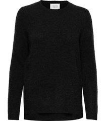 brook knit new o-neck gebreide trui zwart second female