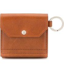 as2ov foldover small wallet - brown