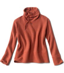 textured cowl sweatshirt